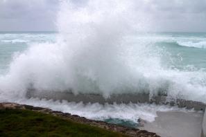 Hurricane Igor - Neighbor's Pool