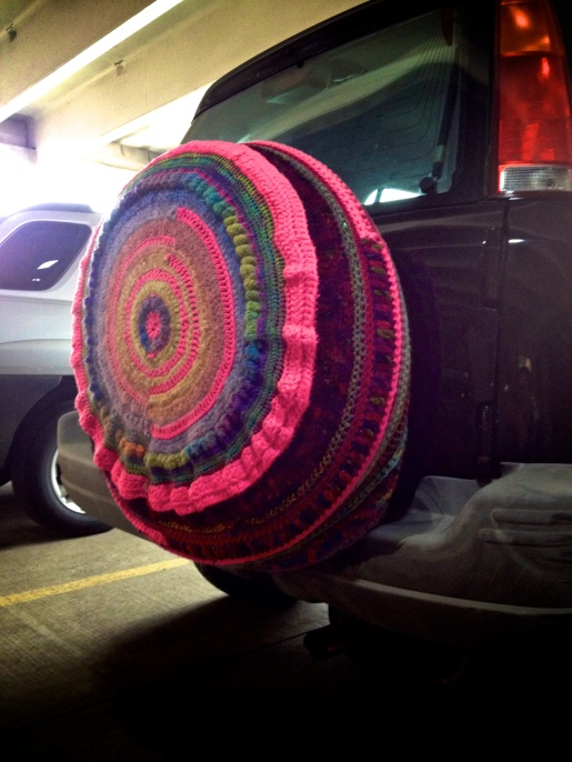 Is it yarn-bombing if you do it to yourself?