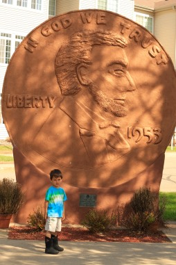 World's Largest Penny, Woodruff, WI