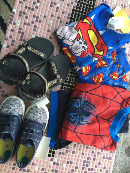 We had a bad morning and so while he was at school I went shopping. What? He needs all these things anyway, I tell myself.